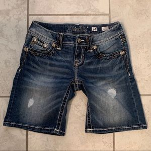 Miss Me Shorts size 24 (or kids 12/14)